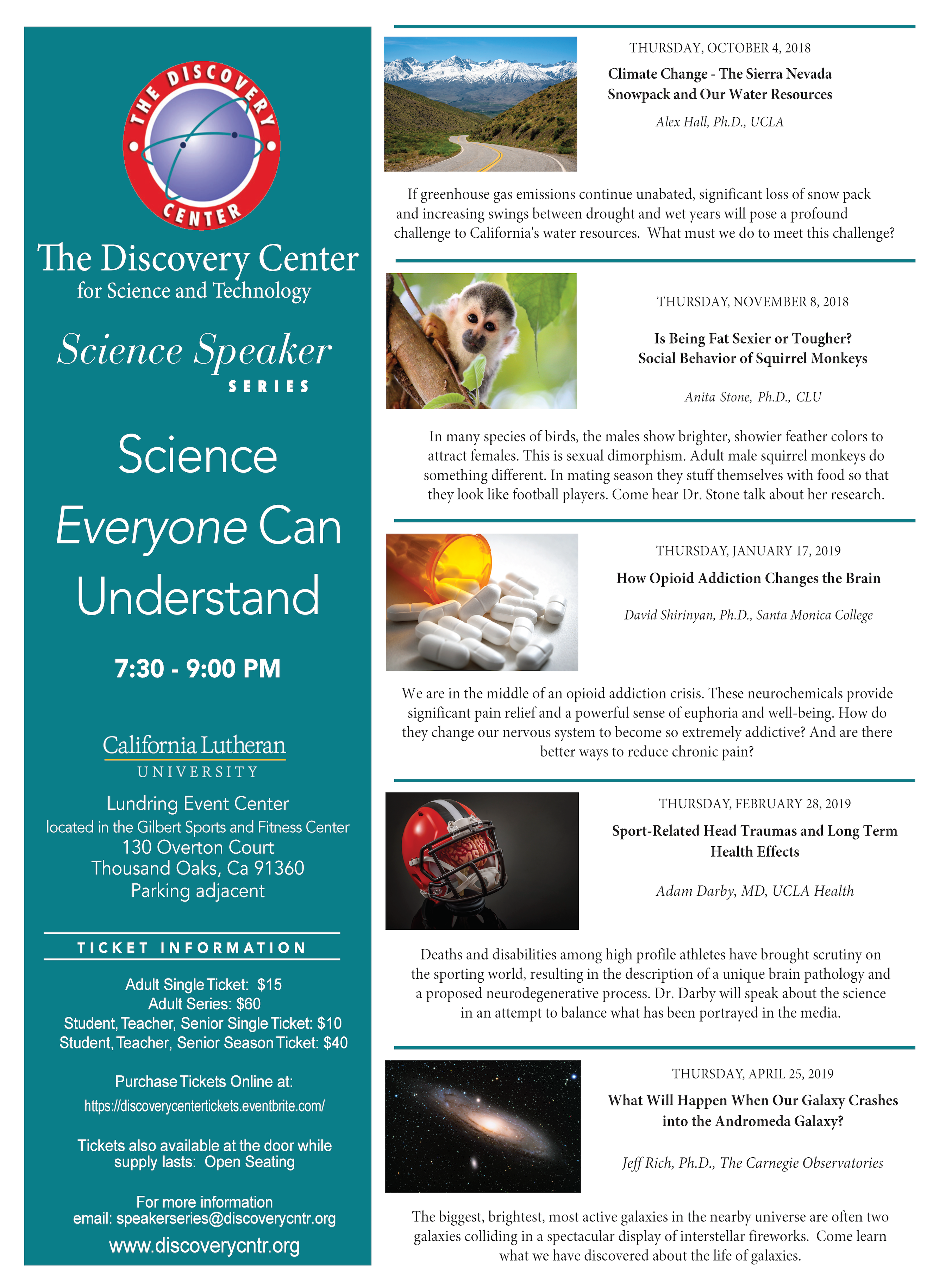 Discovery Center » Science Speaker Series